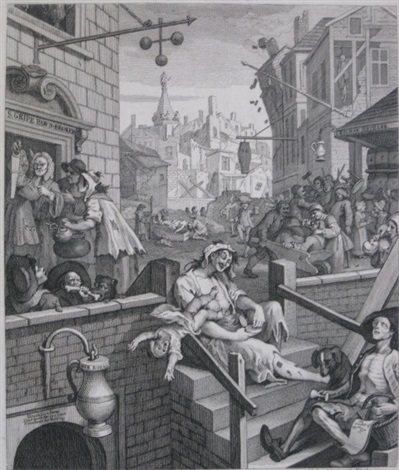 beer street gin lane 2 works by william hogarth