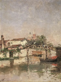 scorcio di citta by italian school-venetian (19)