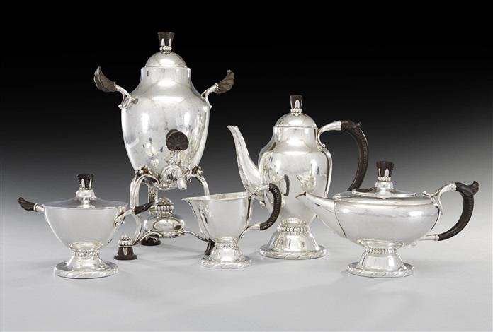 coffee and tea set set of 5 by johan rohde