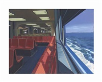 staten island ferry interior by richard estes