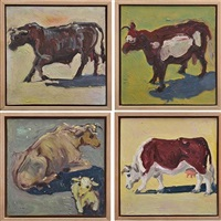 bulls and cows (4 works) by lucy culliton