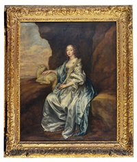 lady mary villiers as st. agnes by sir anthony van dyck