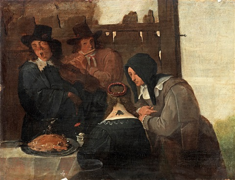 måltidsstycke med musikanter by jan steen