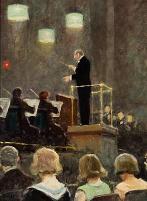 Emil Reesen dirigerer Radioork...