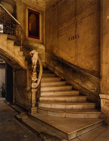 fidel's stairway no.2 (from cuba series) by michael eastman