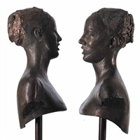 untitled - facing (in 2 parts) by helen archer