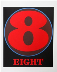 eight (from the american dream portfolio) by robert indiana