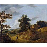 dünenlandschaft mit bauernhäusern und bauern by anonymous-dutch (17)