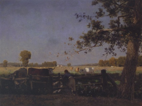 paturage en lété by alfred de knyff