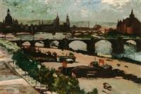 dresden (blick auf die albertbrücke) by hans kempen