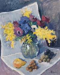 fiori e natura morta (mimose) by dino aliberti