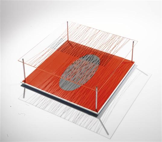 ovalo en el rojo from serie sintesis by jesús rafael soto