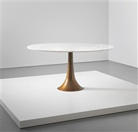 early dining table by angelo mangiarotti