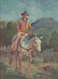 cowboy on horseback by shawn cameron