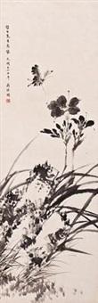 蕙兰图 by jiang jingguo