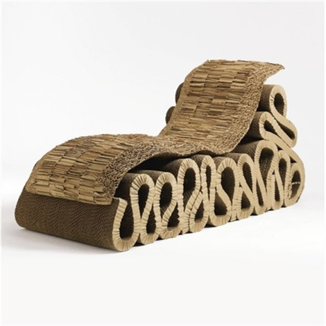 bubbles lounge chair from experimental edges series by frank gehry