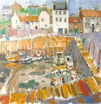 low tide, crail, scotland by glen scouller