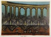 la loge d'honneur - premier rideau de scène by bernard buffet