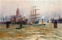harbour of hamburg by alfred jensen