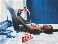 naomi campbell for playboy, december (9 works) by david lachapelle