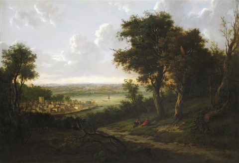 view of cowes on the isle of wight by patrick nasmyth