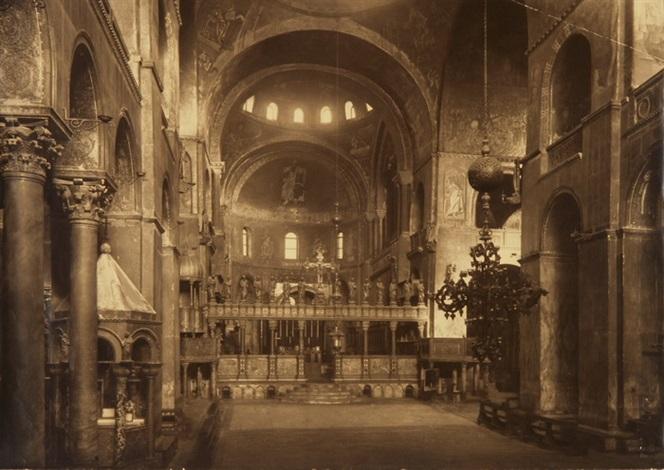 kircheninneres der basilica di san marco venedig by fratelli alinari