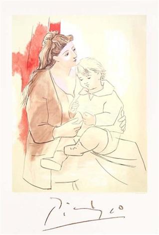 Maternite au Rideau Rouge by Pablo Picasso on artnet