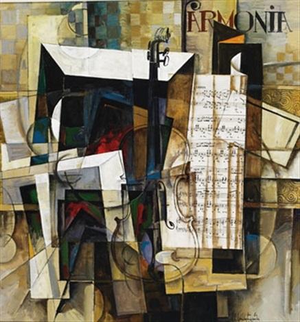 abstract musical collage by aram aavakimovich kupetsian
