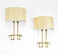 pair of mail-coach wall sconces by felix agostini