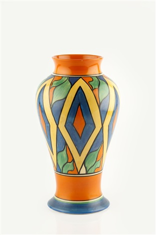 Diamonds Vase In The Meiping Shape By Clarice Cliff On Artnet