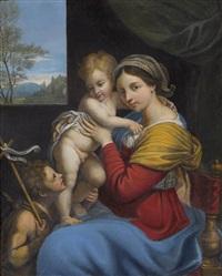 madonna mit jesus und johannes dem täufer by annibale carracci