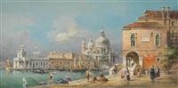 venedig - santa maria salute mit blick auf punta della dogana by detlev nitschke
