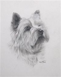 dog drawing 3 by rex flood