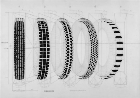five tyres remoulded 8 works by richard hamilton