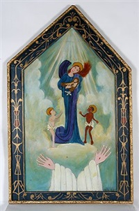 angels with baby and the lord's hands by lorenzo scott