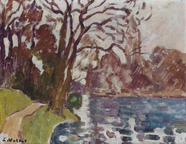 le lac du bois de boulogne by louis valtat