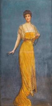 portrait de madame vesnitch by jean béraud