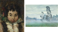 girl (set of 2) by vladimir aleksandrovich igoshev