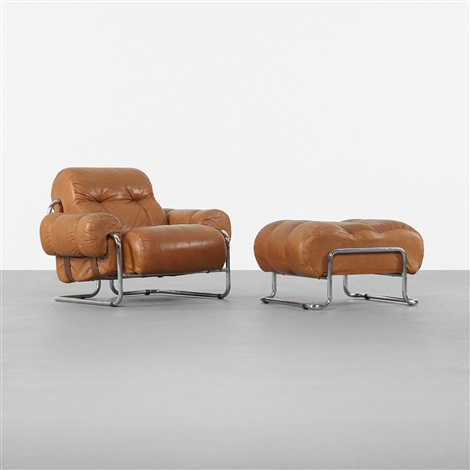 Lounge Chair And Ottoman (set Of 2) By Guido Faleschini