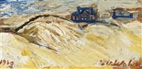 dunes et plage by henri-victor regnault