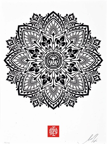 mandala ornament set of 2 by shepard fairey