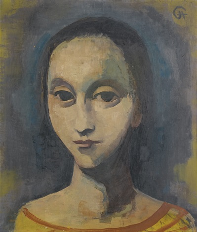 mädchenkopf (head of a woman) by karl hofer