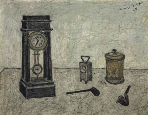 nature morte à la pendule by bernard buffet