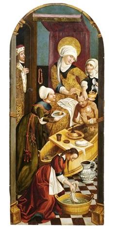 die heilige elisabeth pflegt einen aussätzigen by hans holbein the elder