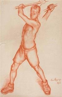 arbeiter (bewegungsstudie) by johannes hepperger