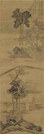 scholars in a garden by anonymous chinese qing dynasty