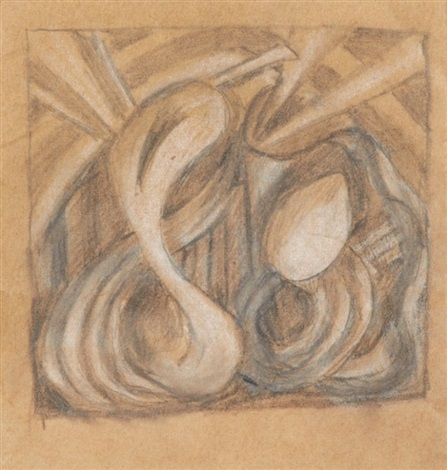 study for a sculpture by mark tobey