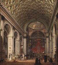 interno della chiesa di santa maria presso san celso a milano by giovanni migliara