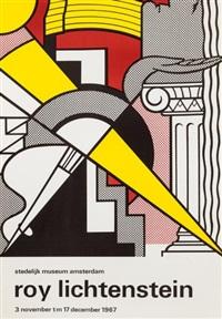 affiche d'exposition - stedelijk museum poster by roy lichtenstein