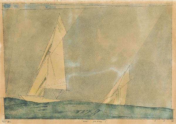 zwei yachten by lyonel feininger